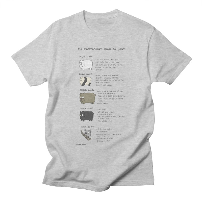 The Commonfolk's Guide to Bears Men's Regular T-Shirt by Rustled Jimmies