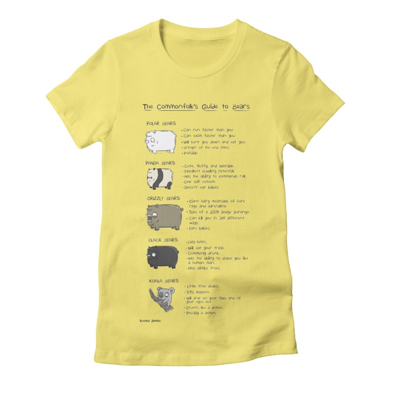The Commonfolk's Guide to Bears Women's Fitted T-Shirt by Rustled Jimmies