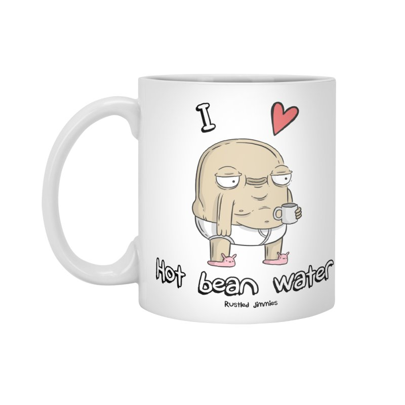 I <3 hot bean water Accessories Standard Mug by Rustled Jimmies