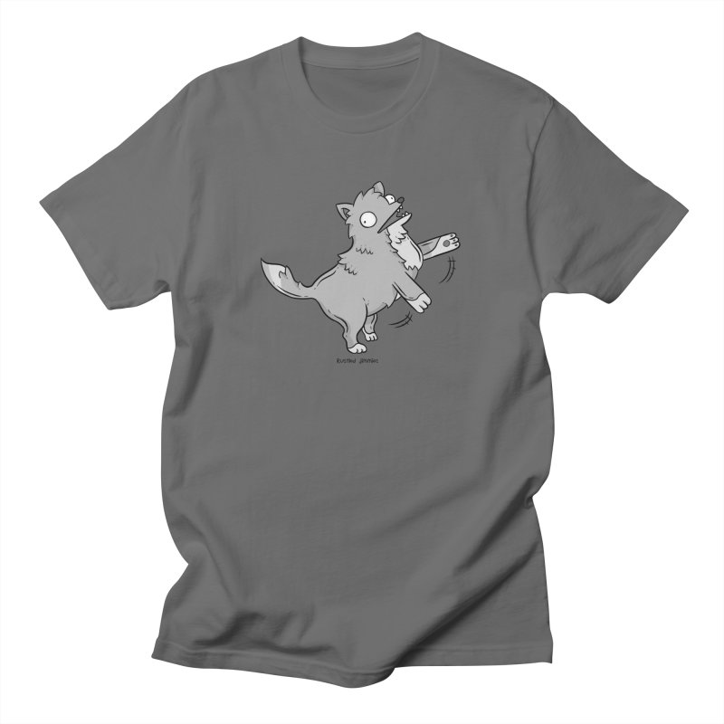 Derpy Wolf Men's T-Shirt by Rustled Jimmies