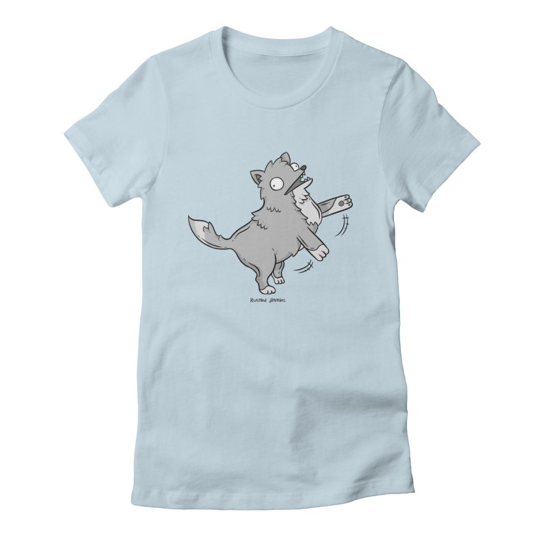 Derpy Wolf Women's Fitted T-Shirt by Rustled Jimmies