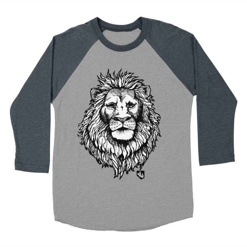 Noble Lion Women's Baseball Triblend T-Shirt by Red Rust Rum - Shop