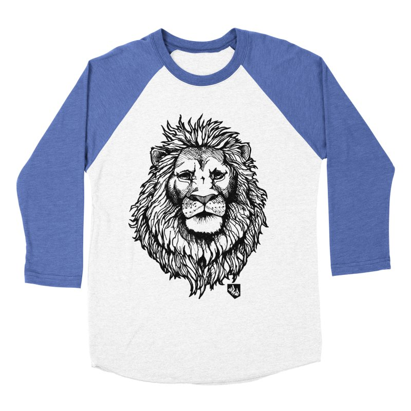 Noble Lion Men's Baseball Triblend T-Shirt by Red Rust Rum - Shop