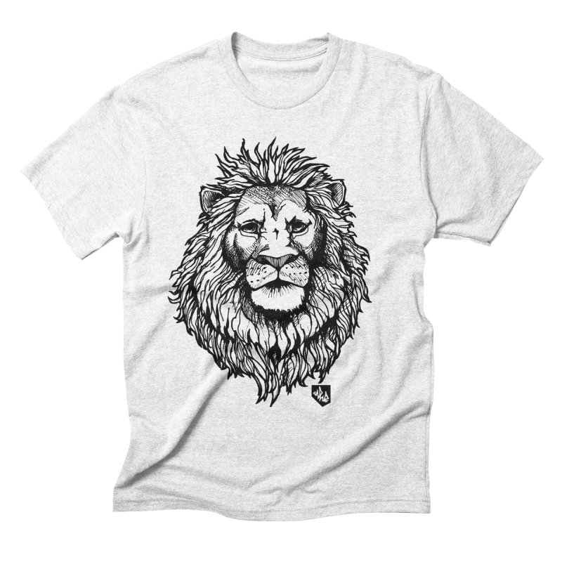 Noble Lion Men's Triblend T-shirt by Red Rust Rum - Shop