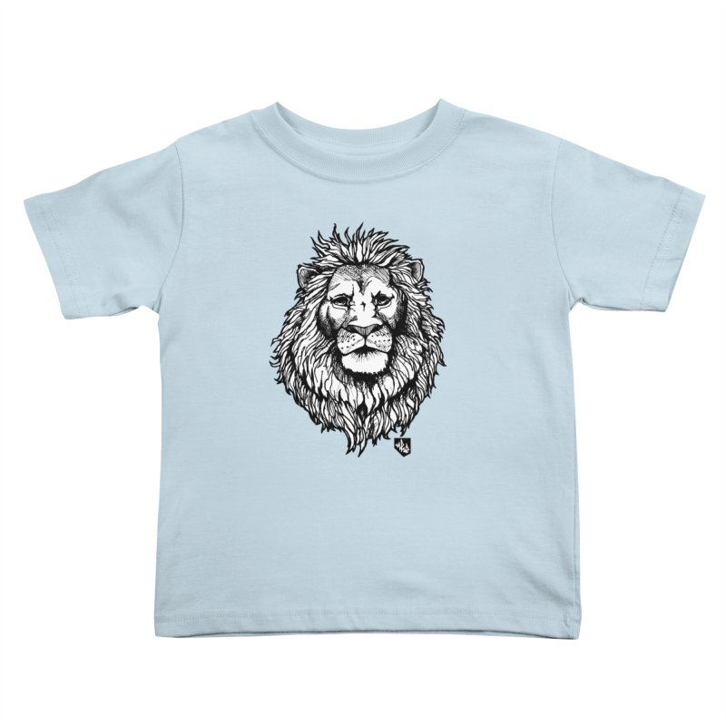 Noble Lion Kids Toddler T-Shirt by Red Rust Rum - Shop