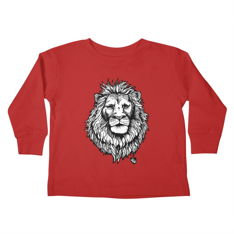 Noble Lion Kids Toddler Longsleeve T-Shirt by Red Rust Rum - Shop