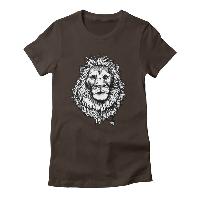 Noble Lion Women's Fitted T-Shirt by Red Rust Rum - Shop