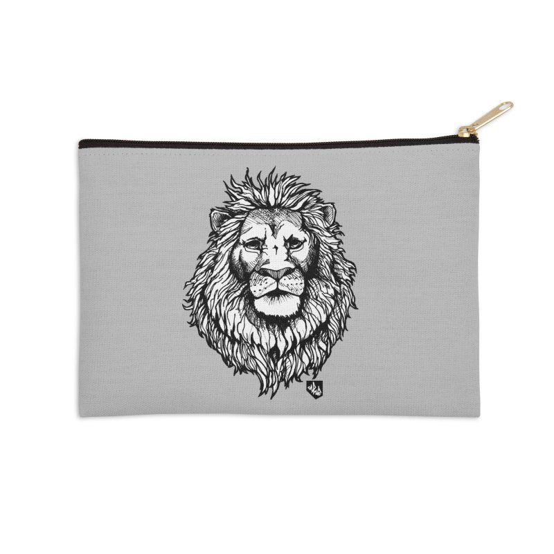 Noble Lion Accessories Zip Pouch by Red Rust Rum - Shop