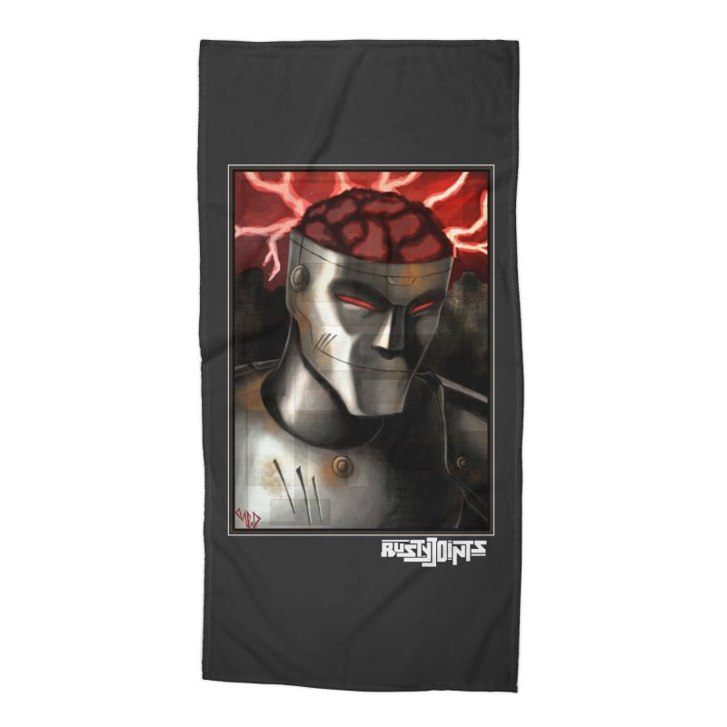 Rusty Joints - Chaos Portrait Tee Accessories Beach Towel by Red Rust Rum - Shop