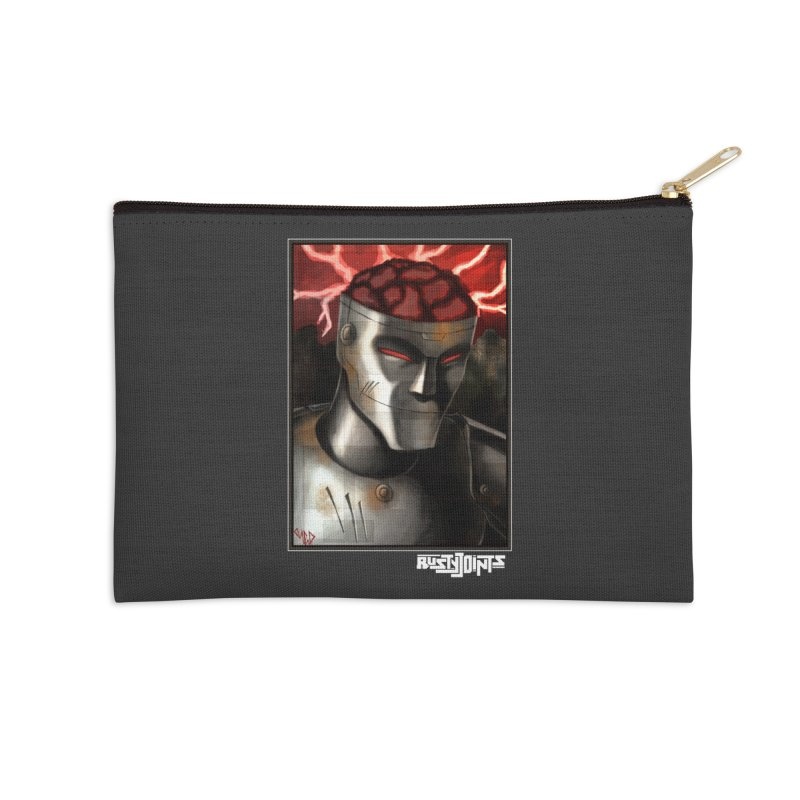 Rusty Joints - Chaos Portrait Tee Accessories Zip Pouch by Red Rust Rum - Shop