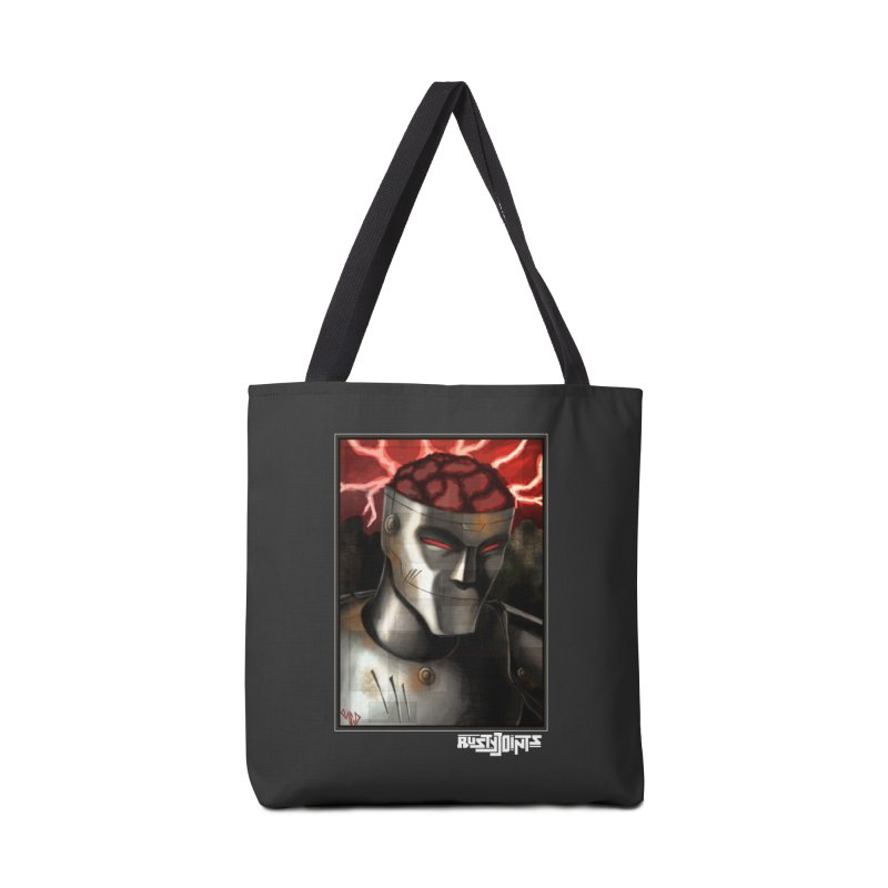Rusty Joints - Chaos Portrait Tee Accessories Tote Bag Bag by Red Rust Rum - Shop
