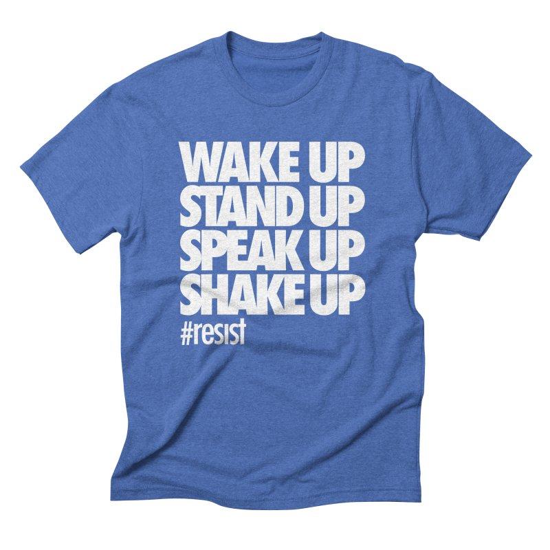 WAKE UP... #resist Men's T-Shirt by rus wooton