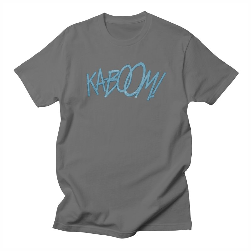 Ka-Boom! Blue Men's T-Shirt by rus wooton