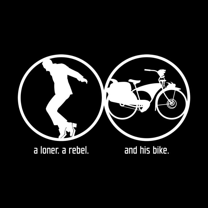 a loner. a rebel. and his bike. Men's Pullover Hoody by rus wooton