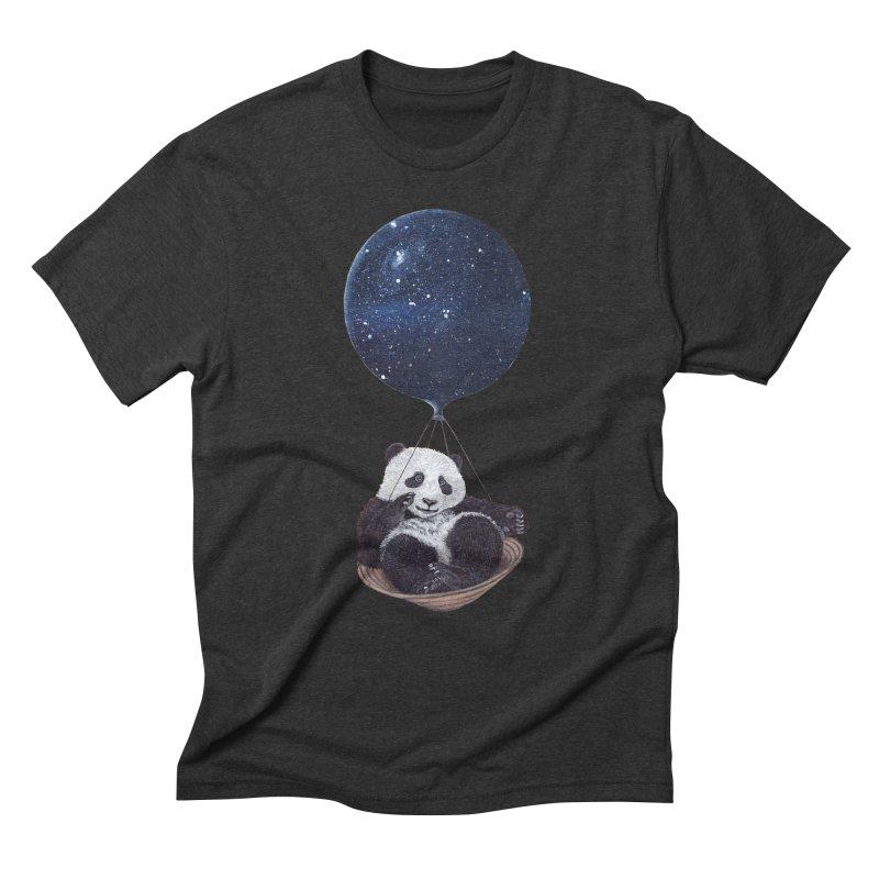 Panda Men's Triblend T-shirt by ruta13art's Artist Shop