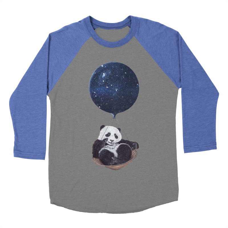 Panda Men's Baseball Triblend T-Shirt by ruta13art's Artist Shop