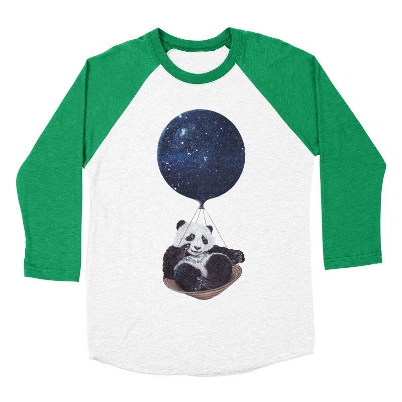 Panda Men's Baseball Triblend T-Shirt by ruta13art's Artist Shop