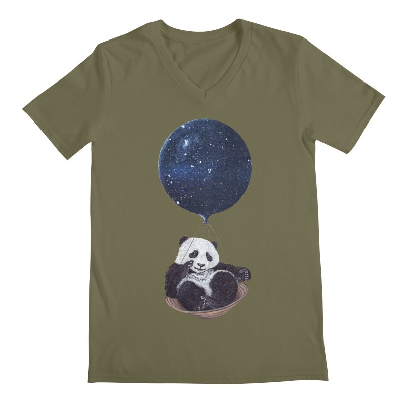 Panda Men's V-Neck by ruta13art's Artist Shop