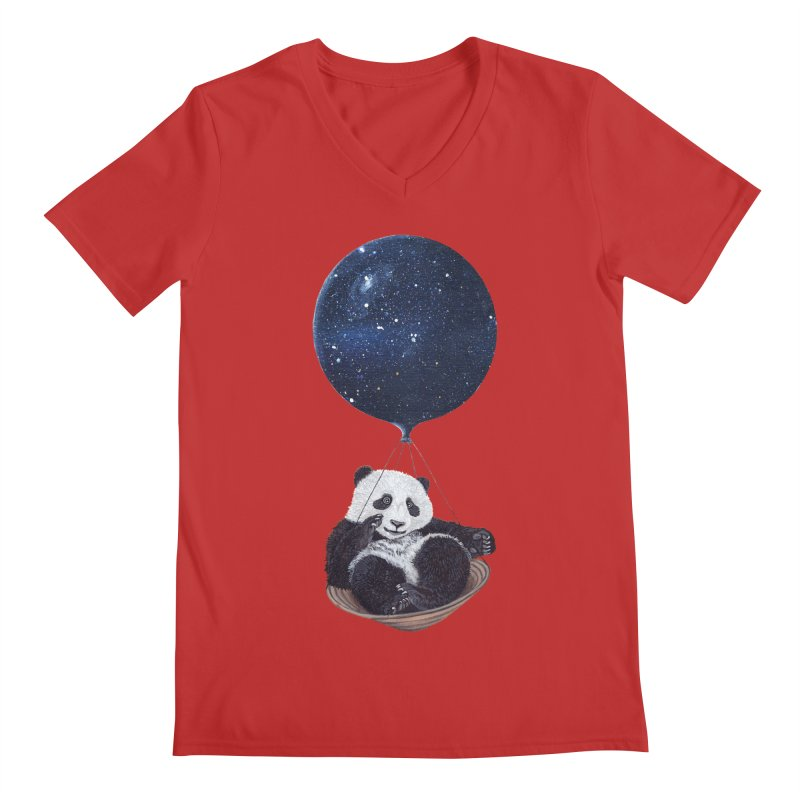 Panda Men's V-Neck by ruta13art's Artist Shop