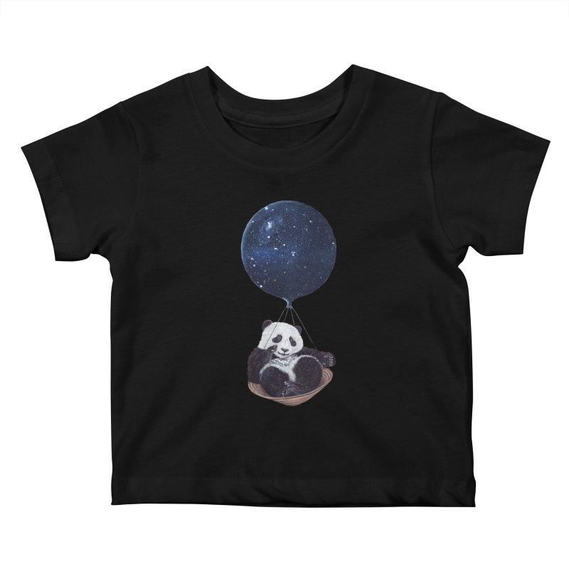Panda Kids Baby T-Shirt by ruta13art's Artist Shop