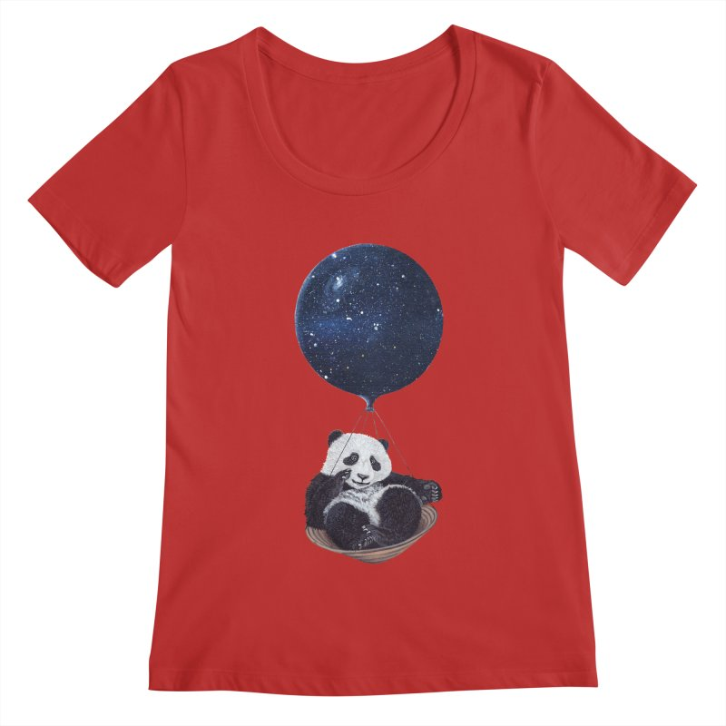 Panda Women's Scoopneck by ruta13art's Artist Shop