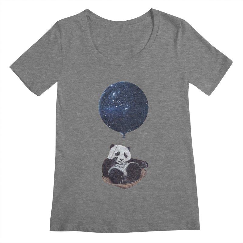Panda Women's Scoopneck by ruta13art's Artist Shop