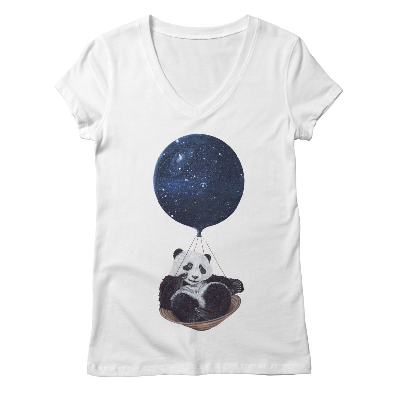 Panda Women's V-Neck by ruta13art's Artist Shop
