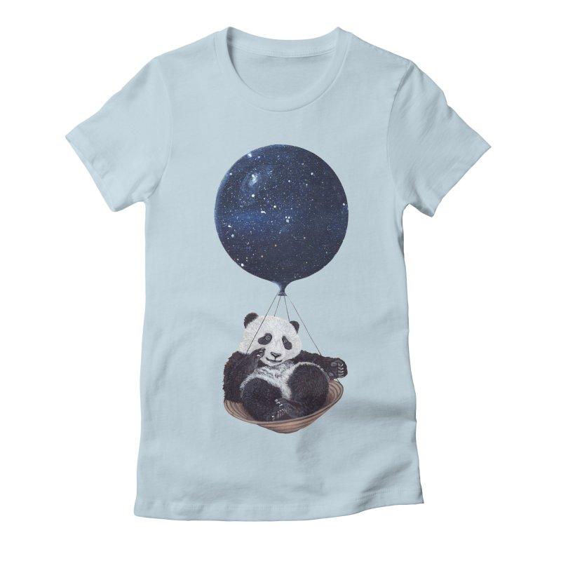 Panda Women's Fitted T-Shirt by ruta13art's Artist Shop