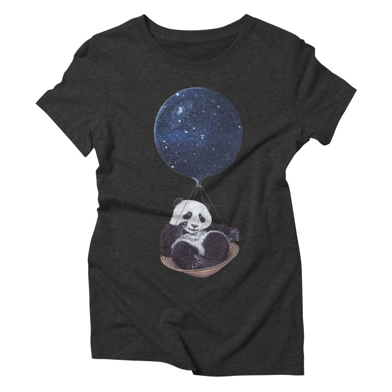 Panda Women's Triblend T-shirt by ruta13art's Artist Shop