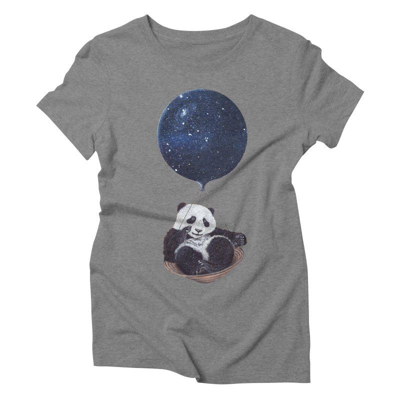 Panda Women's Triblend T-Shirt by ruta13art's Artist Shop