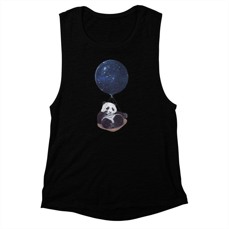 Panda Women's Muscle Tank by ruta13art's Artist Shop