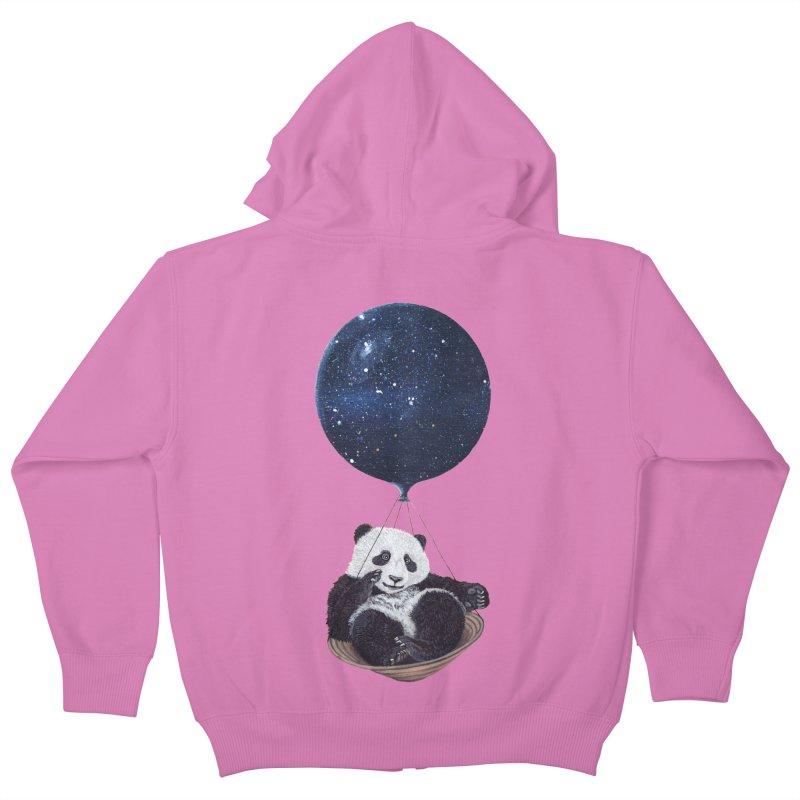 Panda Kids Zip-Up Hoody by ruta13art's Artist Shop