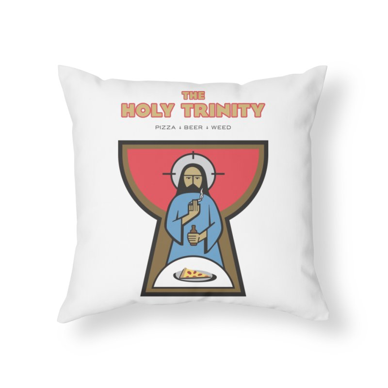 The Holy Trinity Home Throw Pillow by Ran When Parked Supply Co.