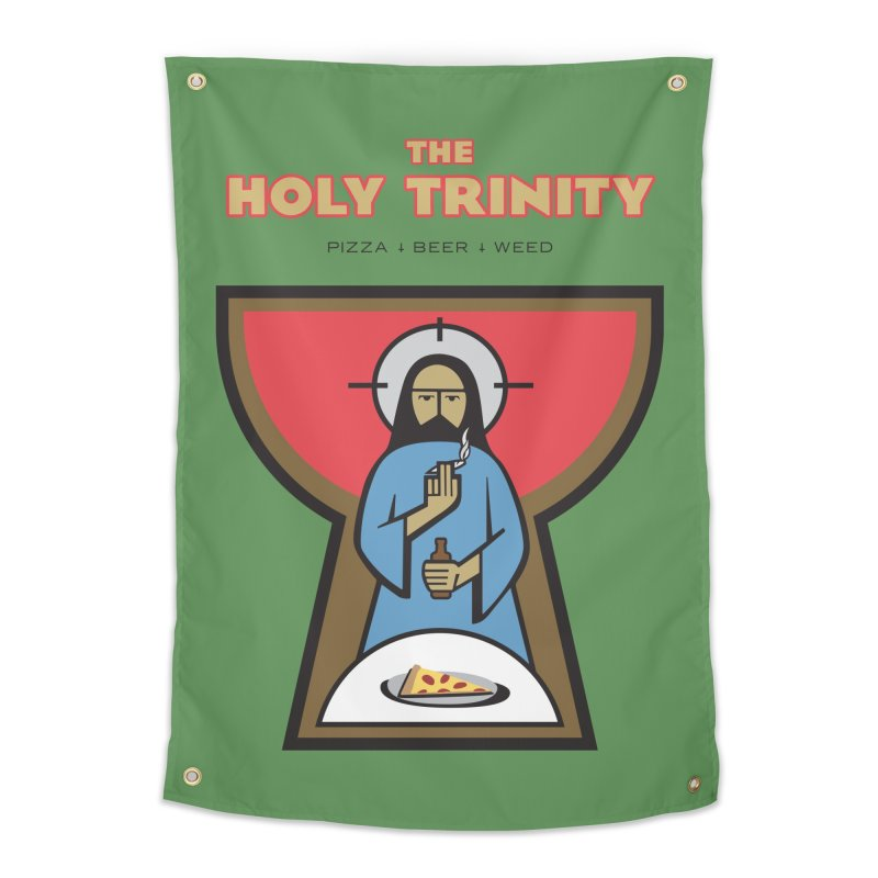 The Holy Trinity Home Tapestry by Ran When Parked Supply Co.