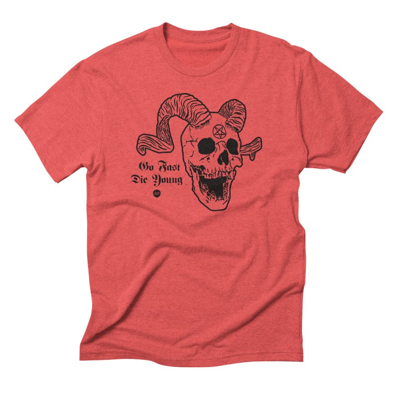 Go Fast, Die Young Men's T-Shirt by Ran When Parked Supply Co.