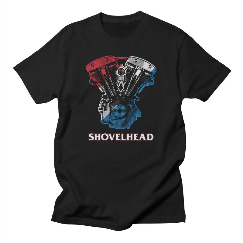 Shovelhead Men's T-Shirt by Ran When Parked Supply Co.