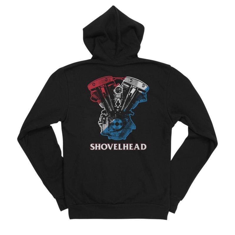 Shovelhead Men's Zip-Up Hoody by Ran When Parked Supply Co.