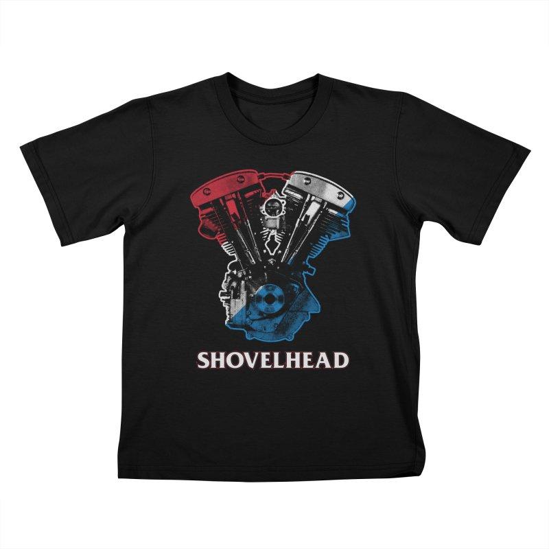 Shovelhead Kids T-Shirt by Ran When Parked Supply Co.