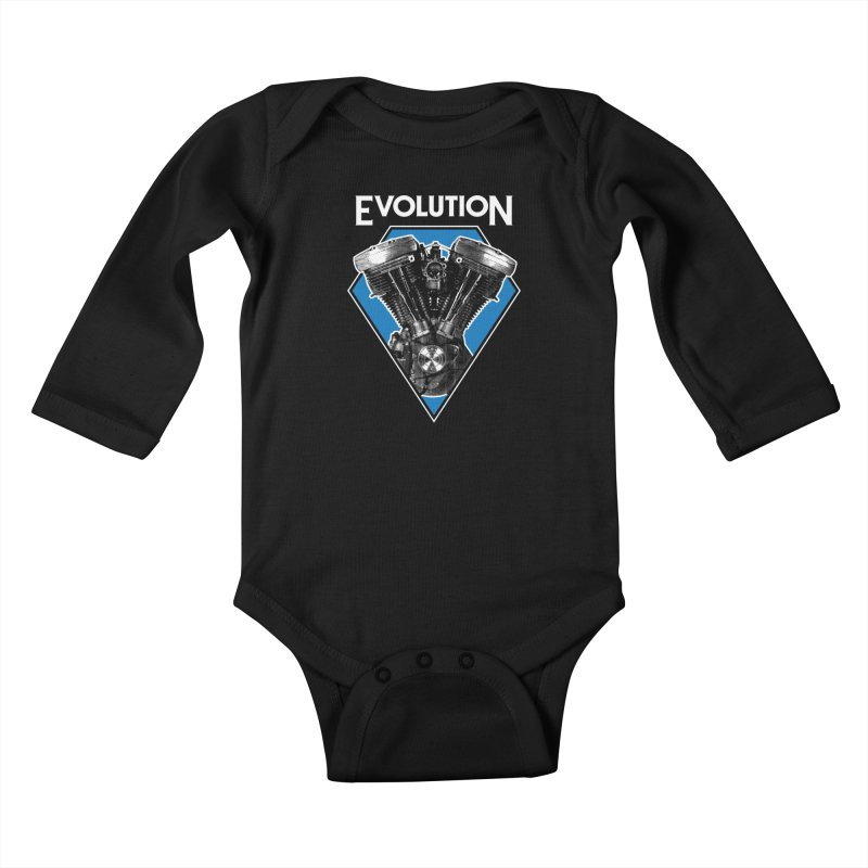Evolution Kids Baby Longsleeve Bodysuit by Ran When Parked Supply Co.
