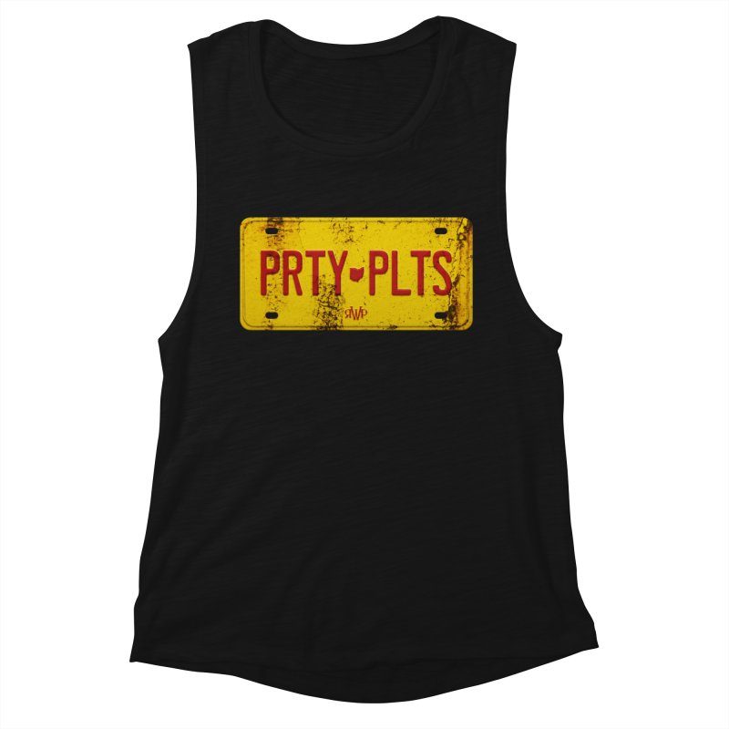 Party Plates Women's Tank by Ran When Parked Supply Co.