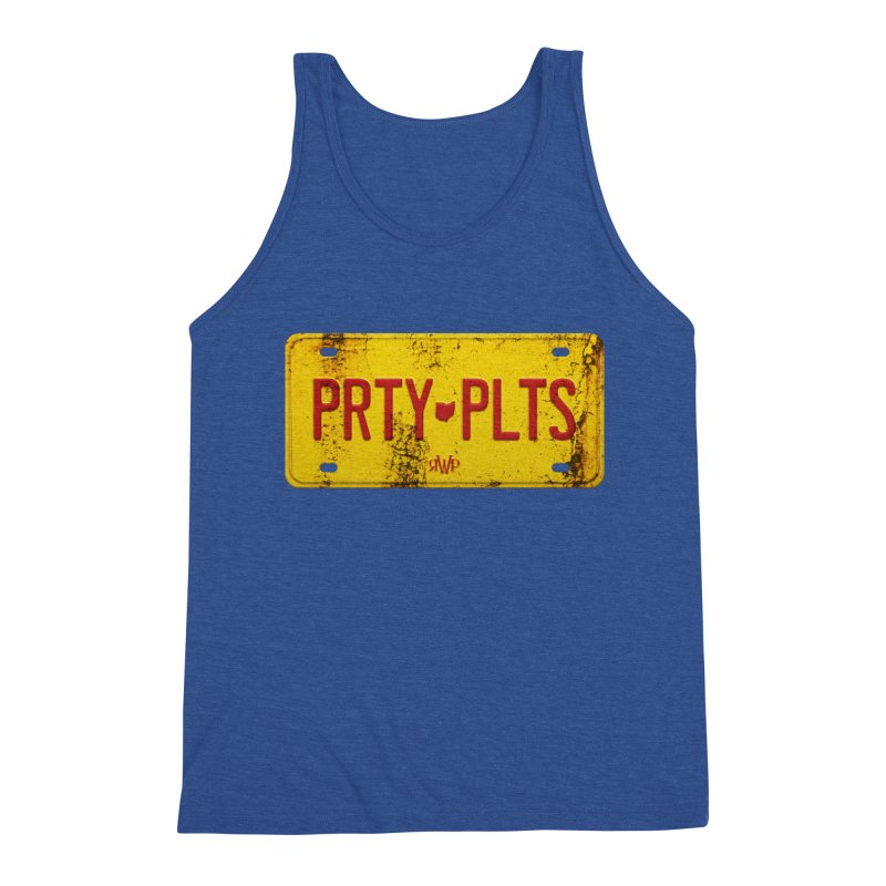 Party Plates Men's Tank by Ran When Parked Supply Co.