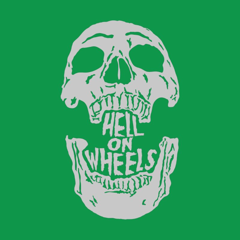 Hell On Wheels (Silver) Kids T-Shirt by Ran When Parked Supply Co.