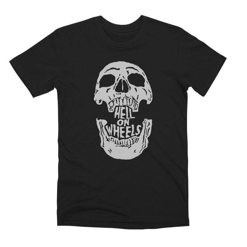 Hell On Wheels (Silver) Men's T-Shirt by Ran When Parked Supply Co.