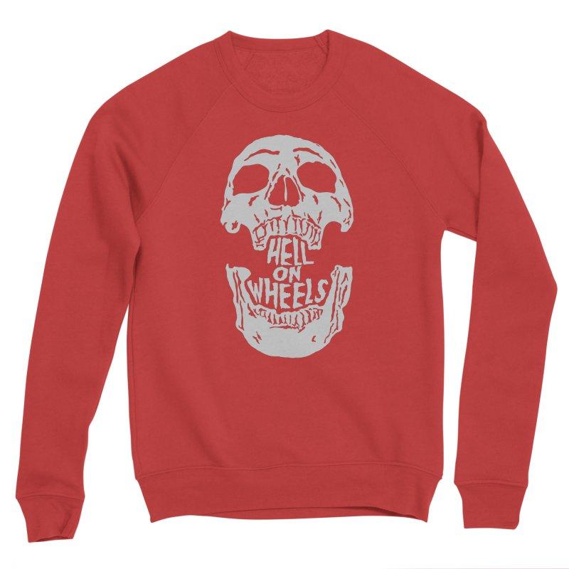 Hell On Wheels (Silver) Men's Sweatshirt by Ran When Parked Supply Co.
