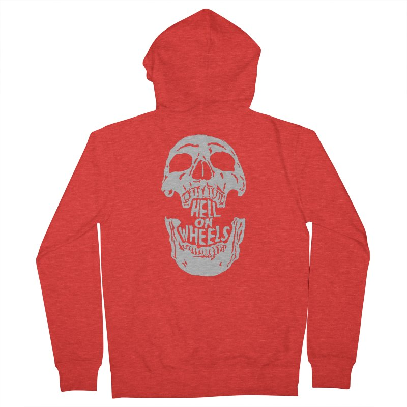 Hell On Wheels (Silver) Women's Zip-Up Hoody by Ran When Parked Supply Co.