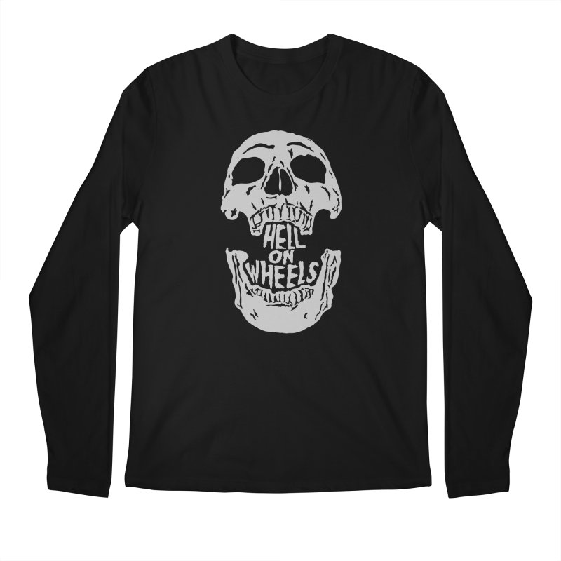 Hell On Wheels (Silver) Men's Longsleeve T-Shirt by Ran When Parked Supply Co.