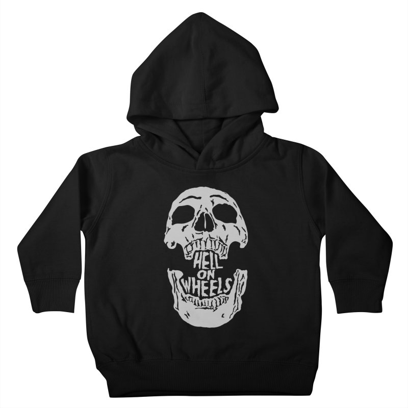 Hell On Wheels (Silver) Kids Toddler Pullover Hoody by Ran When Parked Supply Co.