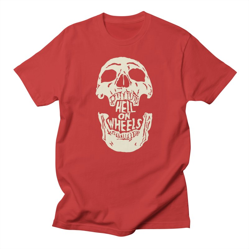 Hell On Wheels (Bone) Men's T-Shirt by Ran When Parked Supply Co.