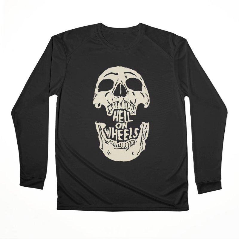 Hell On Wheels (Bone) Women's Longsleeve T-Shirt by Ran When Parked Supply Co.