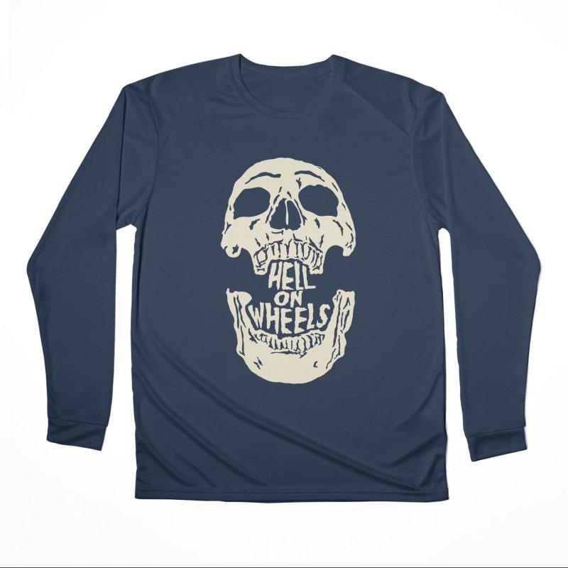 Hell On Wheels (Bone) Men's Longsleeve T-Shirt by Ran When Parked Supply Co.